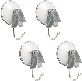 4 Pcs Towel Hooks, Suction Cup Shower Hooks Bathroom Clothes Hooks,Wall Hook Holder for Bedroom,Kitchen,Restroom,Hotel, Br...