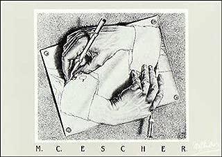 (20x28) M.C. Escher Drawing Hands Art Print Poster
