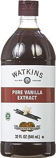 Watkins Organic Pure Vanilla Extract, 32 fl. oz. Economy Sized Bottle, 1 Count (21900)