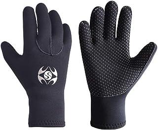BRISKARO Neoprene Water Gloves, 3mm Five Finger Warm Wetsuit Winter Gloves for Diving Snorkeling Paddling Surfing Kayaking...