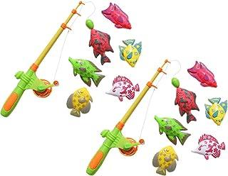 TOYANDONA 14pcs Kids Pool Fishing Toys Magnetic Fishing Game Table Learning Education Fishing for Preschool Parent-Child I...