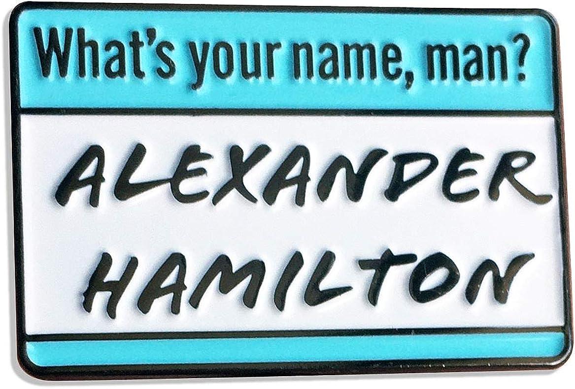 FueledToCreate Alexander Hamilton Musical Metal Enamel Pin