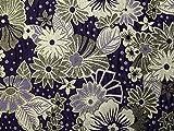 Blumenmuster Metallic Brokat Kleid Stoff