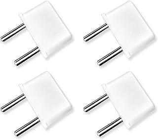 ヨーロッパ コンセント変換アダプタ 海外旅行用 電源変換プラグ Cタイプ 4個セット(白)