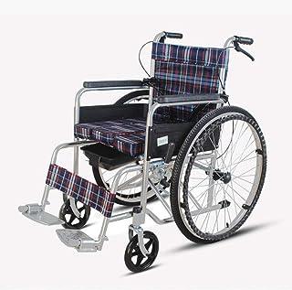 手動車椅子折りたたみ式ポータブルトランジットトラベルチェアスチールパイプ素材ロック用ハンドブレーキトランスポート車椅子用旅行と保管