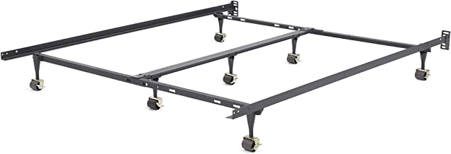 Classic Brands Hercules Universal Heavy-Duty Metal Bed Frame   Adjustable Width Fits Twin, Twin XL, Full, Queen, King, Cal...