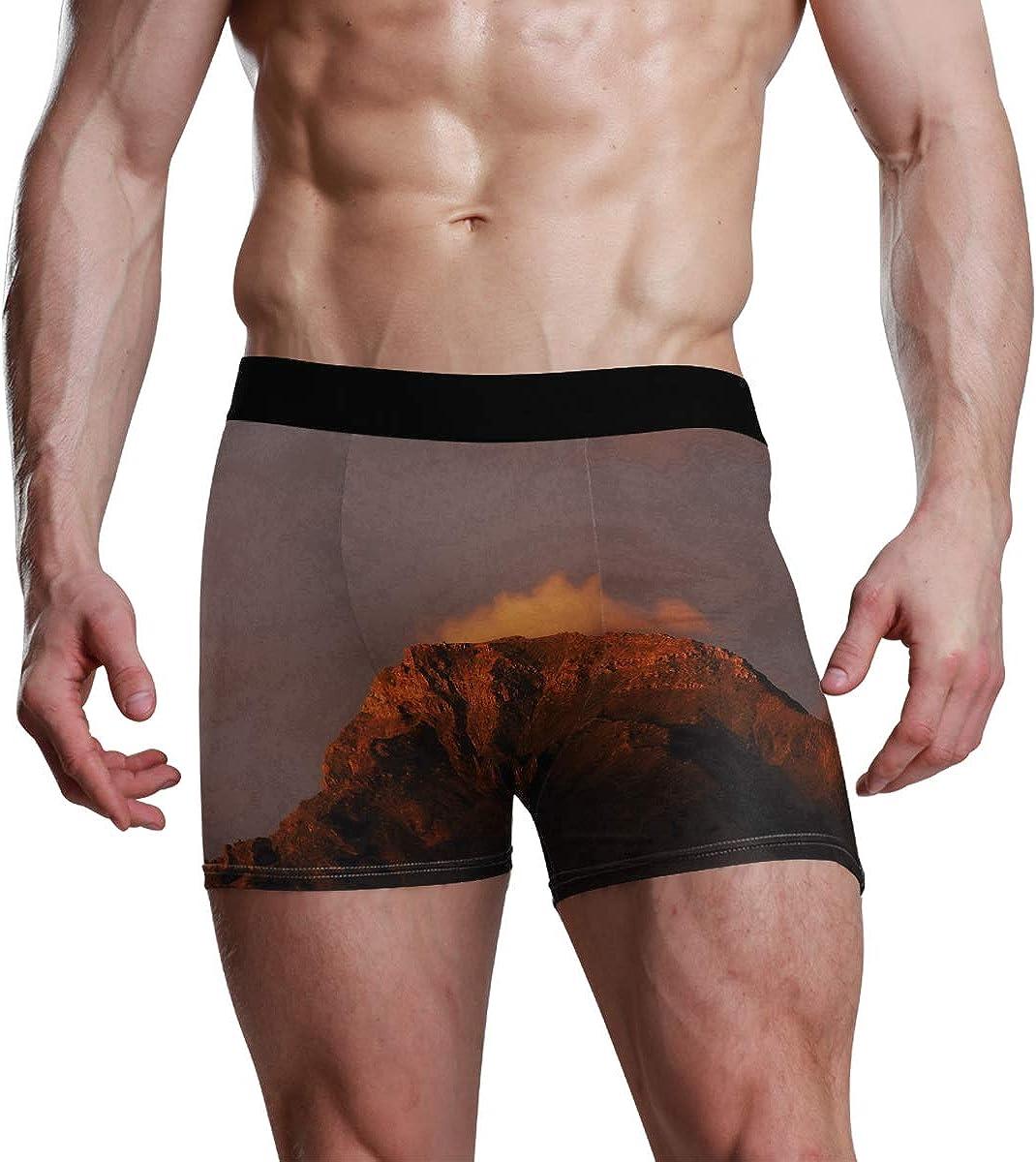 Men's Boxer Briefs Anaga Mountains Sunset Light Canary Islands Spain Bikini Underwear Stretch Trunks Boys Underpants