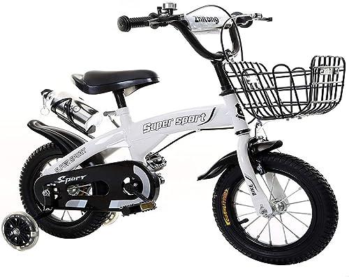 ahorra hasta un 70% Bicicleta Infantil De Acero Carbono para Niños Niños Niños Y niñas, De 2 A 3 años, De 12 Pulgadas, con La Cesta Campana Ruedas De Entrenamiento Y Soporte De Estacionamiento  servicio de primera clase