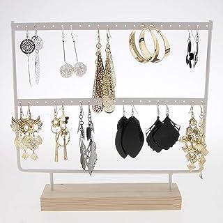 Pr/ésentoir de Bijoux Organisateur de Bijoux Suspendus Porte-Collier en Velours Suspendu /à Un Support de Rangement en T pour Collier Bracelet et Montre Double Layer