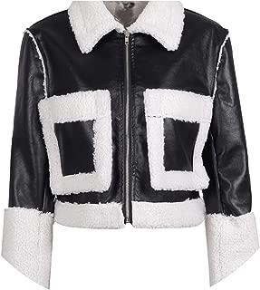Fake Lamb Fur Coats Women Turn Down Pocket Fur Jacket Female Furry Leather Jacket Winter Army Green Casual Overcoat