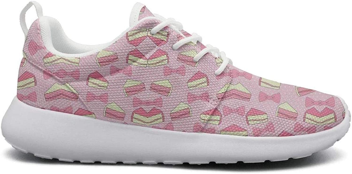 Ipdterty Wear-Resistant Camping Sneaker Cute Cake Pretty Women Non-Slip Athletic Running shoes