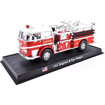1:64 Die-cast Fire Engine 1952 Seagrave USA Truck Car Vehicle Model Toy Gift