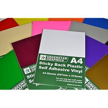 Craft Robo 10 x A4 Gloss Teal Sticky Vinyl Sheets CriCut /& Crafts
