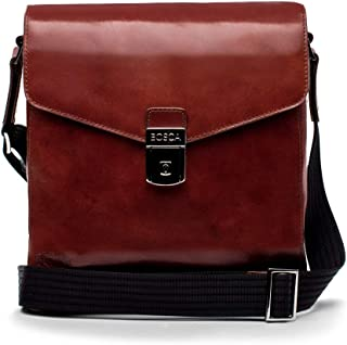 Bosca Old Leather Man Bag (Dark Brown)