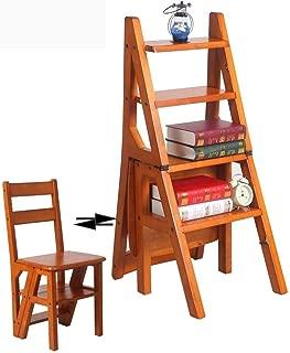 Estante Plegable de Madera Estante de exhibición de la Flor del Taburete de la Escalera de 4 Pasos En la Sala de Estar casera Balcón Cocina Comedor Silla Taburete de Bar para niños y Adultos KADJ