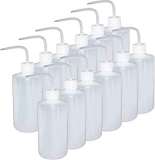 Fasmov 12 Pack 250ml Plastic Safety Wash Bottle, Narrow Mouth Squeeze Bottle