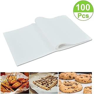 100 Pack Non-Stick Square Parchment Paper Baking Sheets Pre-Cut Parchment Baking Paper Liners, 8×12 inches,Cookie Baking Sheets,Hamburger Patty Paper