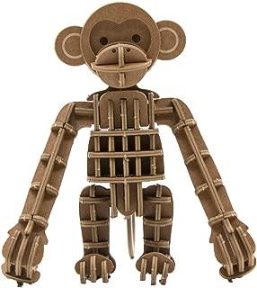 JIGZLE Monkey 3D Paper Puzzle DIY Kit - Laser Cut Miniature (1