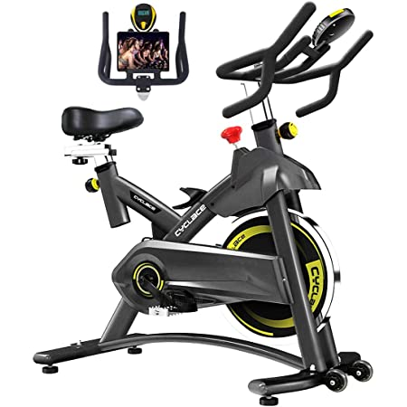 Cyclace Bicicleta Estática De 330 Lb De Capacidad De Peso Bicicleta De Ciclismo De Interior Con Soporte Para Tablet Y Monitor Lcd Para Hacer Ejercicio En Casa Sports Outdoors
