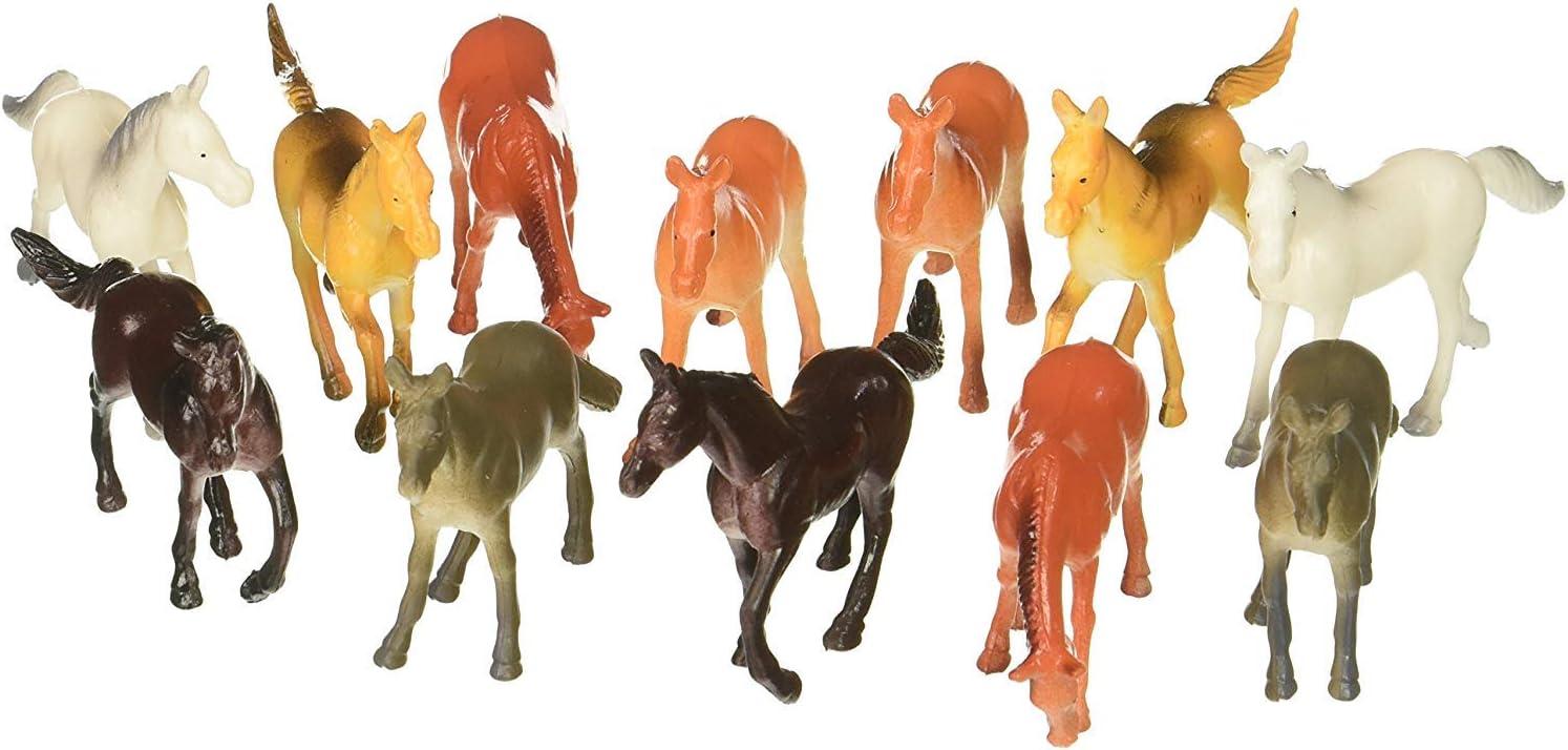 Fun Express Vinyl Plastic Horses Toy - 9 Pieces