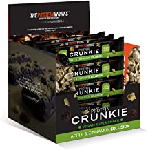 THE PROTEIN WORKS Vegan Crunkies Protein Bars 100 Plant Based Snack Energy Source High Fibre Apple Cinnamon Collision Box of 12 Estimated Price : £ 24,99
