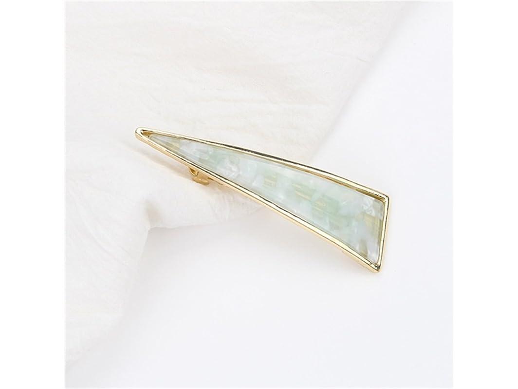 ファイアル私のこしょうOsize 美しいスタイル ガールヘアアクセサリー合金トライアングルダックビルクリエイティブサイドクリップヘアピン(グリーン)