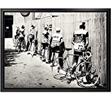 Pintura en lienzo, bicicleta en blanco y negro, impresión de ciclista, bicicleta, cartel fotográfico...