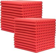"24 Pack Acoustic Panels Studio Foam Wedges 1"" X 12"" X 12"" Soundproof Studio Foam for Walls Sound Absorbing Panels Sound In..."