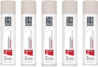 Salon Grafix Mega Hold Professional Freezing Hair Spray, 10 Ounces each (Value Pack of 5)