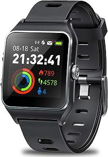 GPS Watch for Men Women, Activity Tracker GPS Running Watch Touch Screen Smart Watch Heart Rate/Sleep/Step/Counter Monitor Sports Watch with 17 Sport Mode