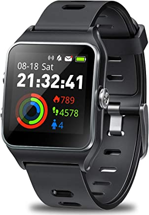 DR.VIVA GPS Watch for Men Women, Activity Tracker GPS Running Watch Touch Screen Smart Watch Heart Rate/Sleep/Step/Counter Monitor Sports Watch with 17 Sport Mode