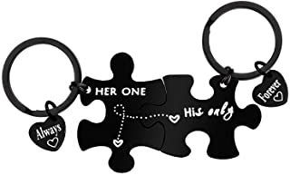 Boyfriend Girlfriend Gift Keychain Couples Jewelry Couple Keychain Her One His Only Couple Keyring for Him and Her Anniver...