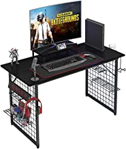 Need Gamer Gaming Desk -Home Computer Desk with Storage Shelves Black Gaming Table with RGB LED Soft Gaming Mouse Pad AC18...