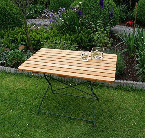 lifestyle4living Klapptisch, Gartentisch, Gartenklapptisch, Terrassentisch, Balkontisch, rechteckig, klappbar, Robinienholz