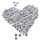 euhuton 100 Stücke Made with Love Antik Herzform Handgemachte Schlüsselzubehör DIY Halskette...