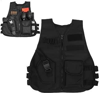 Children Tactical Vest Black Children Kids Security Guard Waistcoat Cs Field Combat Training Military Army Tactical Vest Oxford Boys Costumes Games Protective Jacket Vest