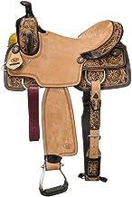 "Tough 1 Western Saddle Pendleton All Around Leather 14"" Brown RK304"
