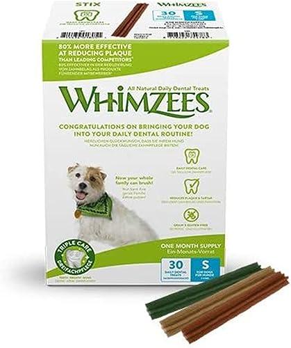 Whimzees, Bâtonnets à Mâcher pour Chien de Petite Taille, Friandises Naturelles pour l'Hygiène Bucco-Dentaire, Taille...