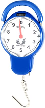 uxcell Arabic Number Display Spring Scale Weighter 10Kg Blue