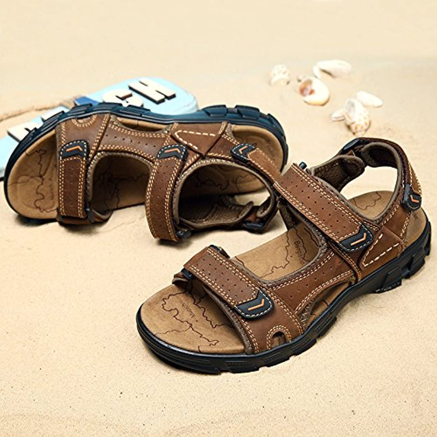 Outdoor Sandals Men's Sandals Summer New Toes Outdoor Sandals Light Fashionable Comfortable and Comfortable Sports shoes Standard Sneaker Code Forty