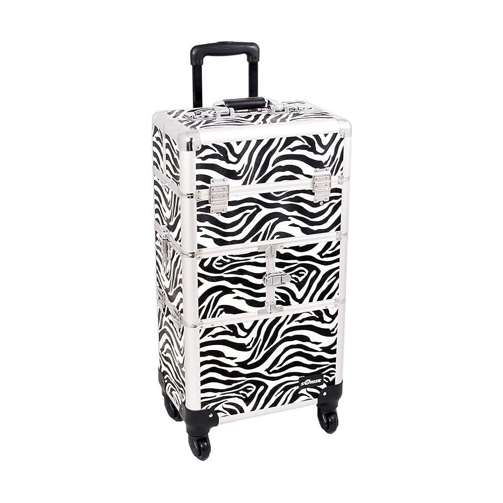 Craft Accents I3264 Zebra Trolley Craft/Quilting Storage Case