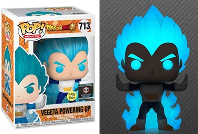 Funko Pop Dragon Ball Z Vegeta Powering Up #713 Chalice Exclusive WITH PROTECTOR