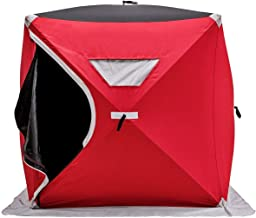 Lucky-gift - 2-Person Portable Pop-up Ice Shelter Fishing Tent with Bag - Camping Tent Fishing Portable Outdoor Heating Ice Fishing Shelter - Camping Tents Weight 2 Person Pad Tent Cot All Weather