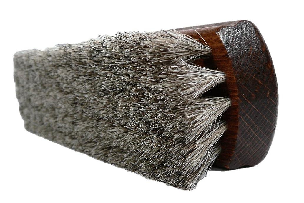 Valentino Garemi Classic Shoe Shine Brush- Leather Footwear Polish Horse Hair Brush- Made in Germany