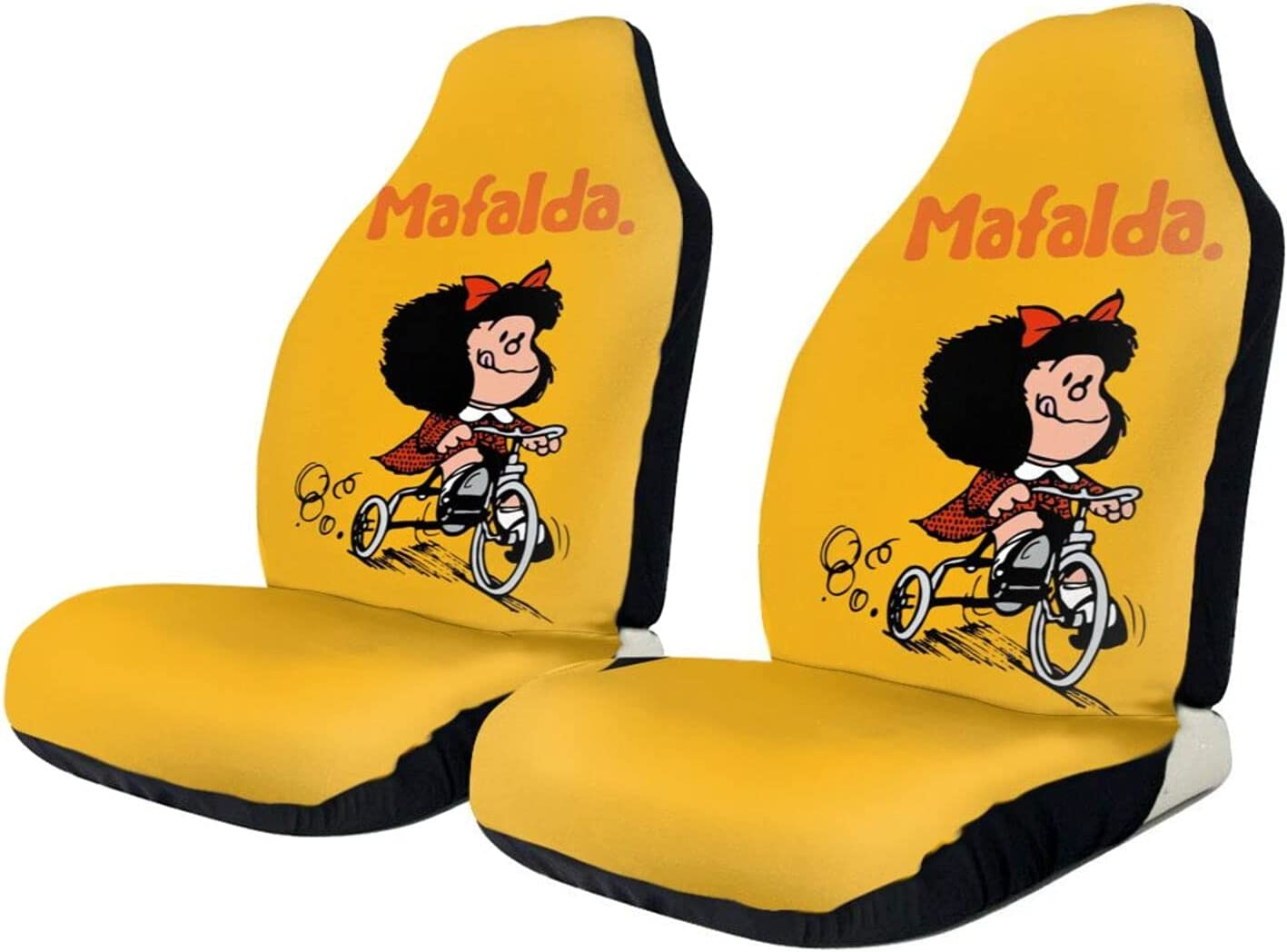 Mafalda Car Seat Opening large release sale Covers Universal Front free shipping Automotiv Protector