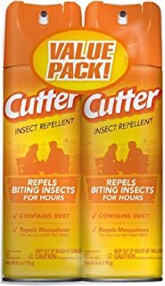 Unscented Cutter Insect Repellent, Aerosol, 2/6-Ounce