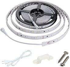 Enersystec 120V Dimmable LED Strip Light, Waterproof IP65, No Need LED Driver/Converter, Cool White 6000K LED Rope Light, 300 LED 16.4ft LED Under Cabinet Lighting Strips