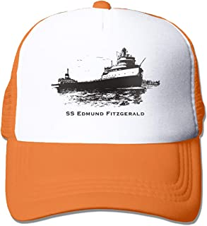 Adult Unisex SS Edmund Fitzgerald Casual Baseball Caps Mesh Trucker Hats for Men and Womens Adjustable Strapback