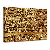 Bilderdepot24 Immagine su Telaio a Cunei Geroglifici 70x50 cm - già Montato sul Telaio, S...