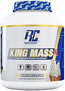 Ronnie Coleman Signature Series King Mass-XL Vanilla ice Cream Super anabolic Growth Accelerator 6 Pound, 6 Pound